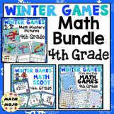 4th Grade Winter Math - 4th Grade Winter Games Math Activities Bundle