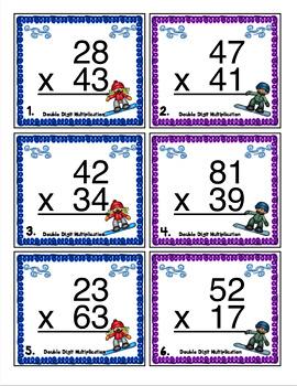 4th Grade Winter Games Math Scoot