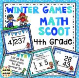 4th Grade Winter Games: 4th Grade Winter Math Scoot