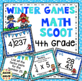 4th Grade Winter Games: 4th Grade Winter Math Scoot
