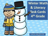 4th Grade Winter Math and Literacy Task Cards