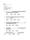 4th Grade Winter Word Work Packet