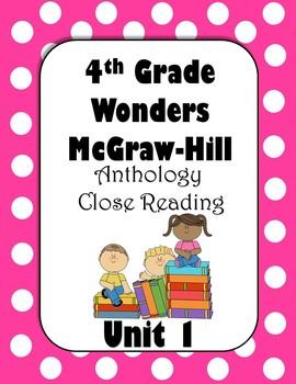4th Grade Wonders Anthology Close Reading