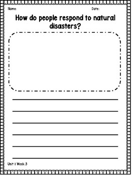 4th Grade Wonders Essential Questions Writing Response Pages