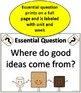 4th Grade Wonders - Essential Questions and Skills Posters for all units