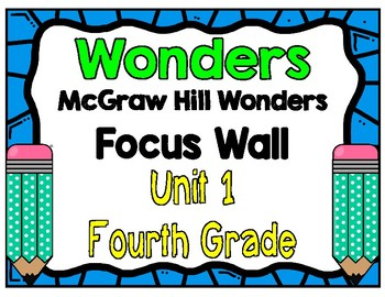 4th Grade Wonders Focus Wall Unit 1