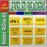 McGraw-Hill 4th Grade Wonders Post-its Unit 1