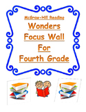 4th Grade Wonders Reading Focus Wall Posters- Simple and Easy to Read! Units 1-6