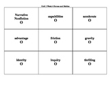 4th Grade Wonders Reading Series Unit 1 Week 4 Vocabulary Tic-Tac-Toe