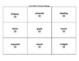 4th Grade Wonders Reading Series Unit 2 Week 1 Vocabulary Tic-Tac-Toe