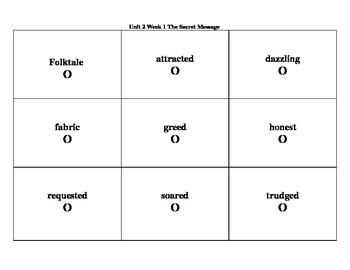 4th Grade Wonders Reading Series Unit 2 Week 1 Vocabulary Tic-Tac-Toe