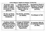 4th Grade Wonders Reading Series Unit 5 Week 2 Vocabulary Tic Tac Toe