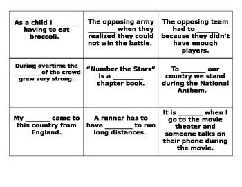4th Grade Wonders Reading Series Unit 6 Week 1 Vocabulary Tic-Tac-Toe