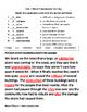4th Grade Wonders Reading Vocabulary Test Unit 1 Week 3