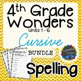 4th Grade Wonders | Spelling | Cursive | BUNDLE