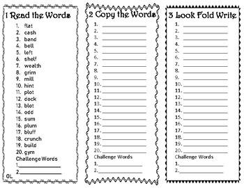 4th Grade Wonders Spelling Trifolds