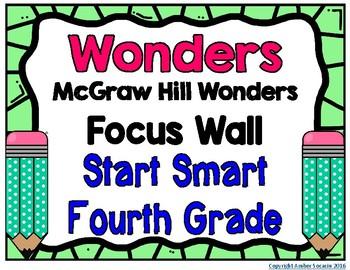 4th Grade Wonders Start Smart Focus Wall