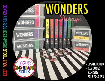 4th Grade Wonders Storage Labels