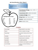 4th Grade Wonders Unit 1 Week 2 Quick Reference Sheet