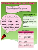 4th Grade Wonders Unit 2 Week 1 Quick Reference Sheet