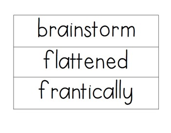 4th Grade: Vocabulary Cards for the Year