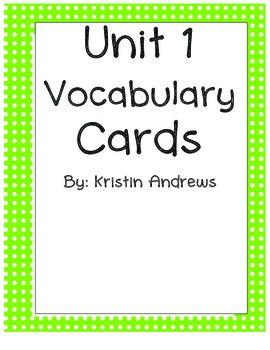 4th Grade Wonders Vocabulary Words