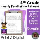4th Grade Wonders Weekly Reading Worksheets {Growing Bundle}