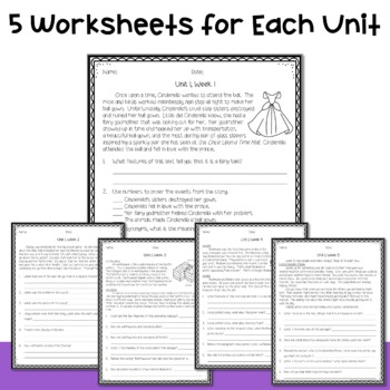 4th Grade Wonders Weekly Reading Worksheets Bundle