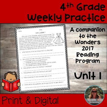 4th Grade Wonders Weekly Reading Worksheets Unit 1
