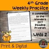 4th Grade Wonders Weekly Reading Worksheets Unit 2