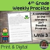4th Grade Wonders Weekly Reading Worksheets Unit 3
