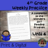 4th Grade Wonders Weekly Reading Worksheets Unit 4