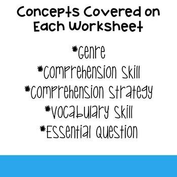 4th Grade Wonders Weekly Reading Worksheets Unit 5
