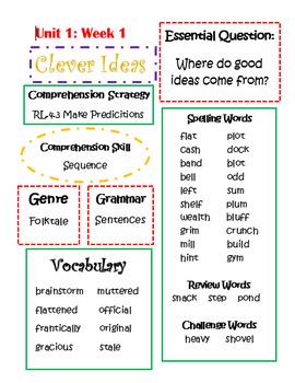 4th Grade Wonders Weekly Review Units 1-6 Bundle
