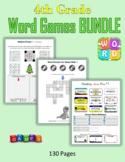 4th Grade Word Games BUNDLE (Print + Digital Activities)