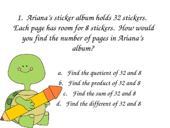 4th Grade Word Problem Practice #1