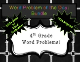 4th Grade - Word Problem of the Day: Bundle