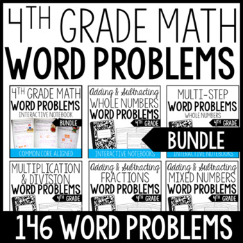 4th Grade Word Problems (Interactive Notebooks Bundle)