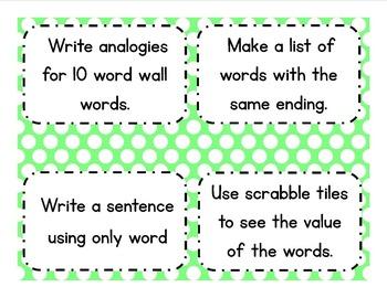 4th Grade Word Wall Vocabulary & Activities