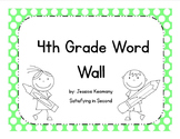 4th Grade Word Wall Vocabulary & Activities