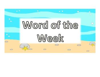 4th Grade Word of the Week - Ocean Theme