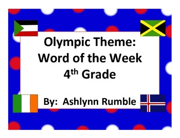 4th Grade Word of the Week - Olympic Theme