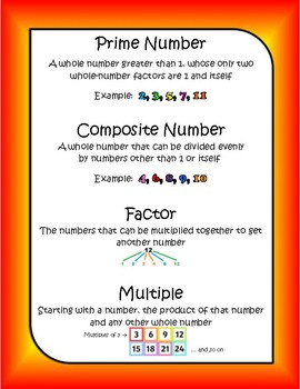 4th Grade ~ Prime & Composite Numbers, Factors, and Multiples 4.OA.B.4