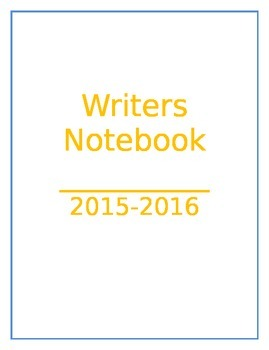 4th Grade Writers Interactive Notebook