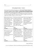 4th Grade Writing Assignment Matrix Quarter 1