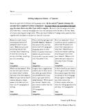 4th Grade Writing Assignment Matrix - Quarter 2