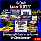 4th Grade Writing BUNDLE, Expository, Narratives, Prompts, Editing and More!