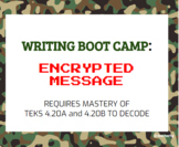 4th Grade Writing Boot Camp Encrypted Message Task Cards -