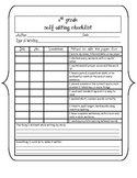 4th Grade Writing Checklist