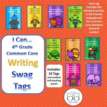 4th Grade Writing Common Core Brag Tags